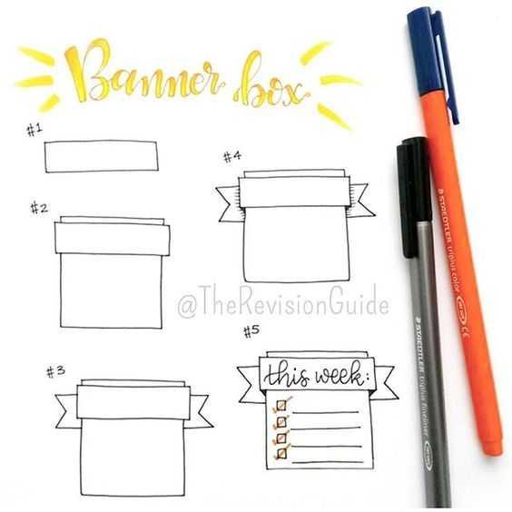 Bullet Journal Ideas - Banner Styles