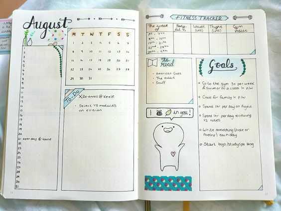 Bullet Journal Ideas - Goal Tracking Template