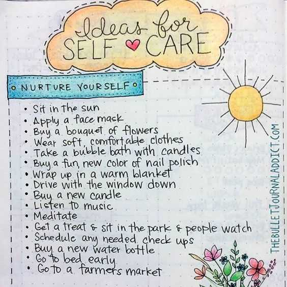 Bullet Journal Ideas - Self Care Template