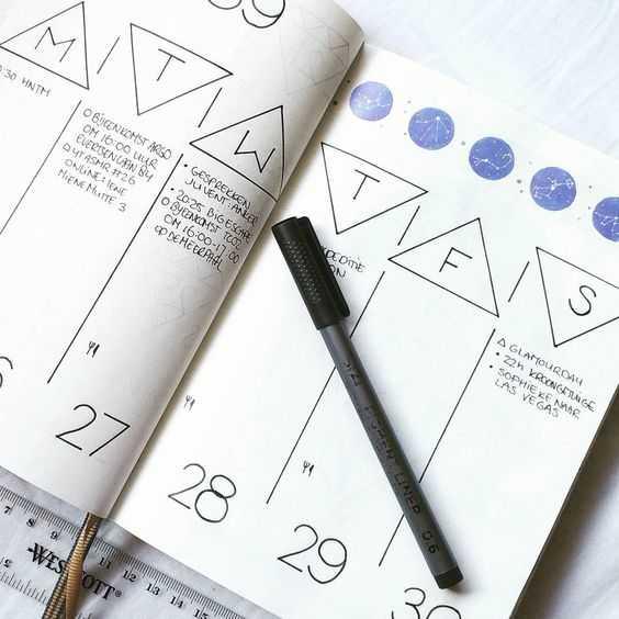 Bullet Journal Ideas - Header Ideas For Dates