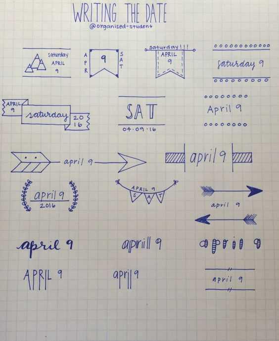Bullet Journal Ideas - Date Ideas