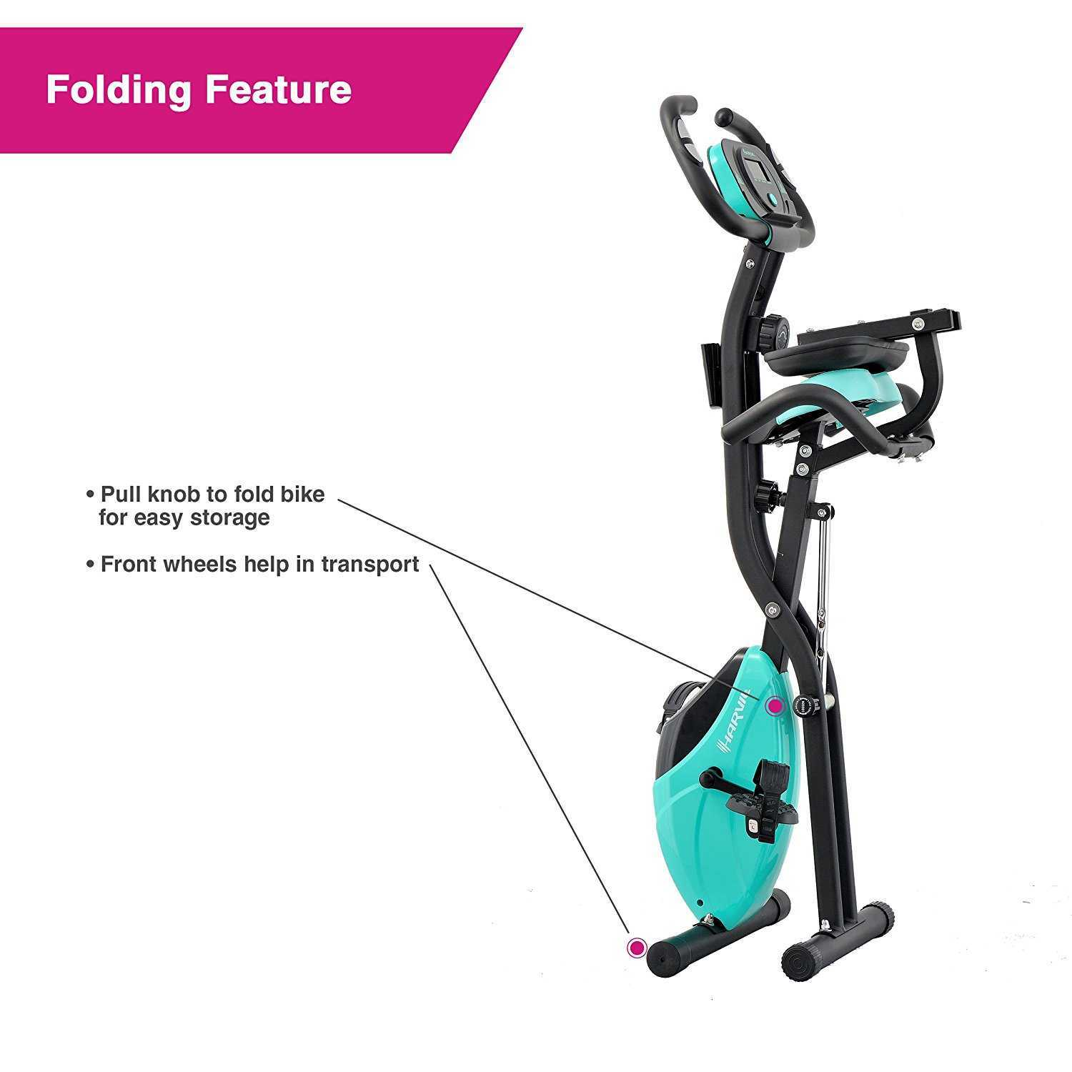 Havril Foldable Exercise Bike Folded View