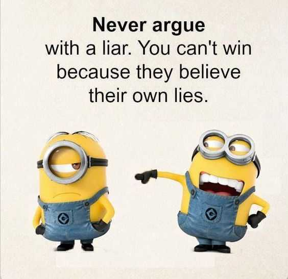 snarky minion quote about liars