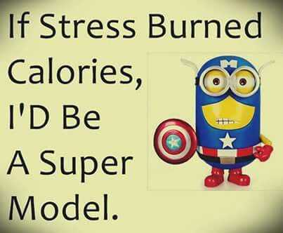 snarky minion quote about stress