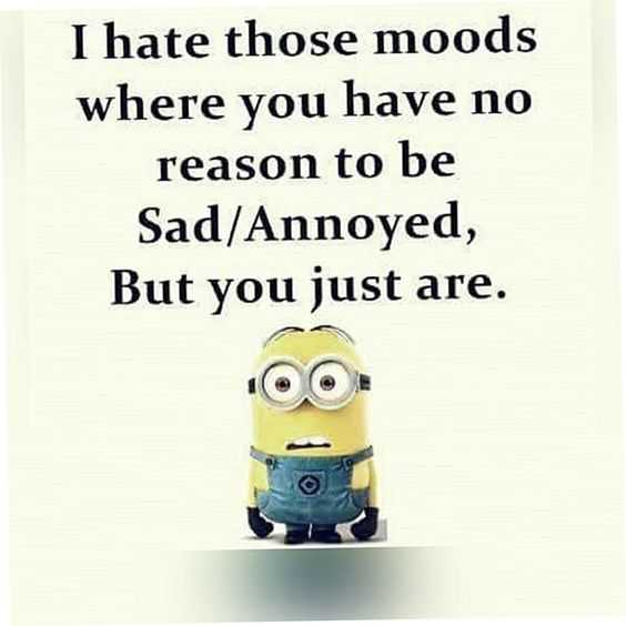 31 Funny Laugh-out-Loud Minions Pictures - no reason to be sad mood