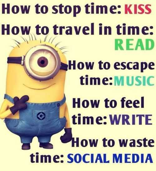 Snarky minion quote about time