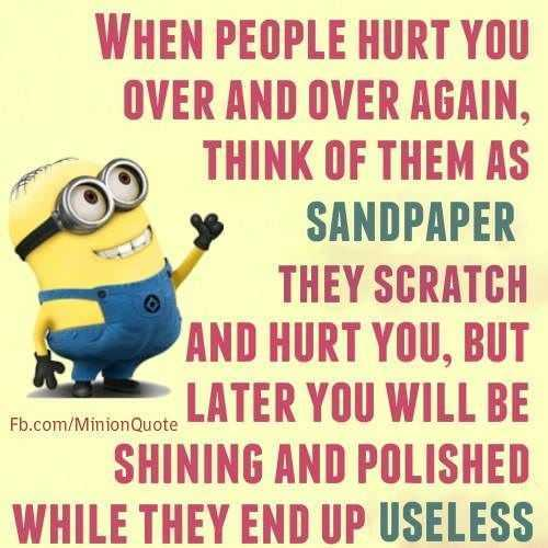 Snarky minion quote about taking insults