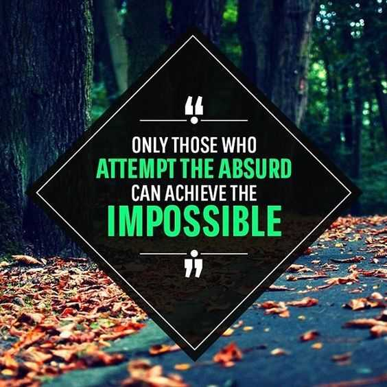 inspiring Motivational Quotes - attempt the absurd