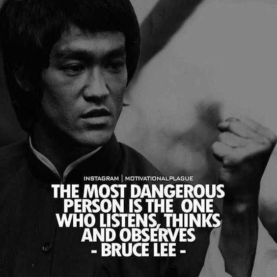 inspiring Motivational Quotes - by bruce lee