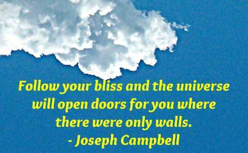 Motivational Quotes - follow your bliss