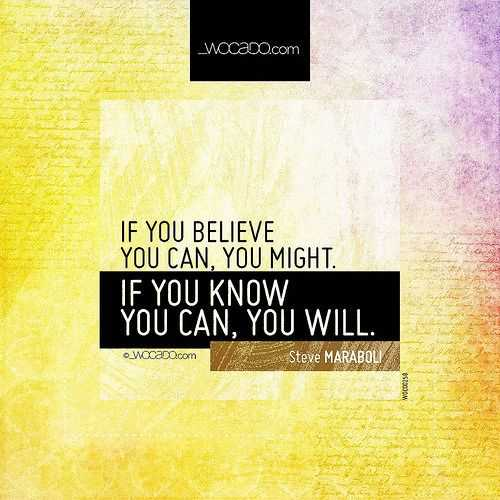 Motivational Quotes - know and belief