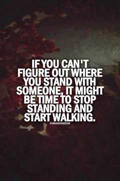 Motivational Quotes - stop standing and start walking