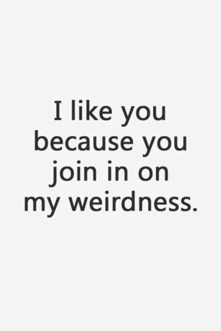 Funny quote about being weird