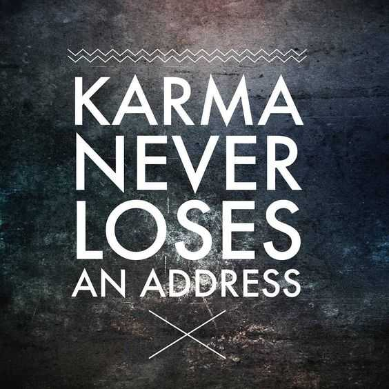 Funny quote about karma