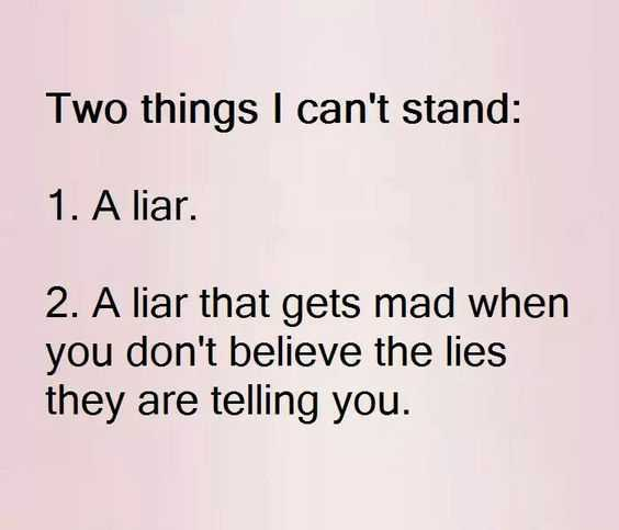Funny quote about liars