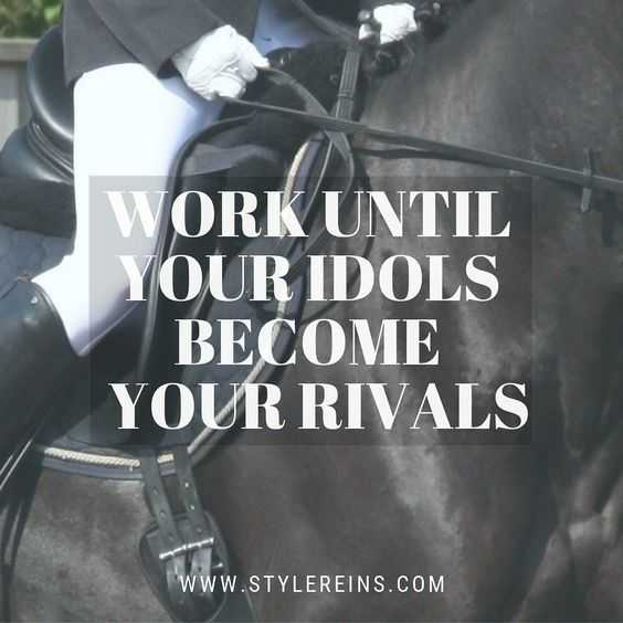 Motivational Quotes - work till idols become rivals