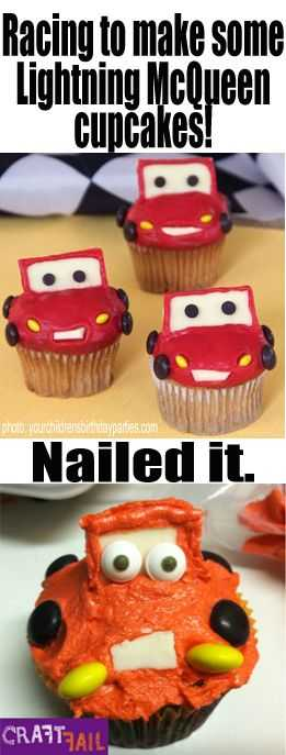 Funny Nailed It Meme - lightning cupcakes