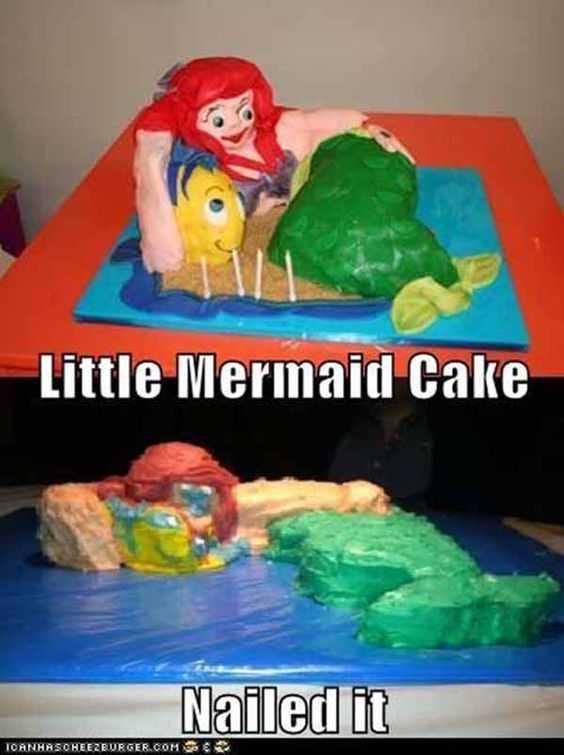Funny Nailed It Meme - funny little mermaid vs colorful blob