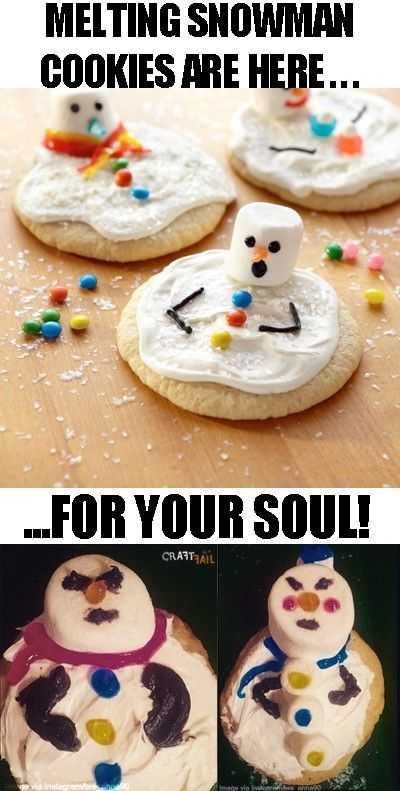 Funny Nailed It Meme - melting snowman vs mush man