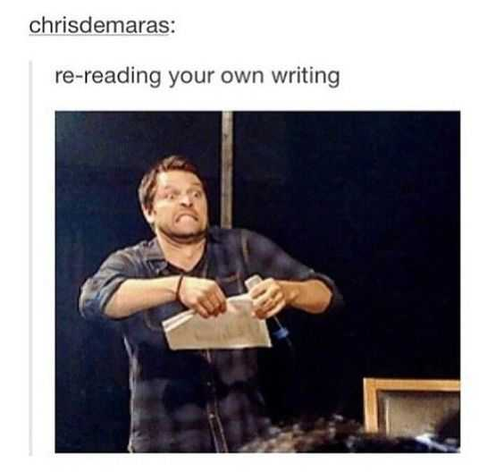 Funny Dank Memes - re-reading your own work like