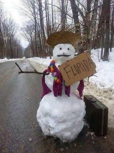 Winter Memes - Snowman Wants Out