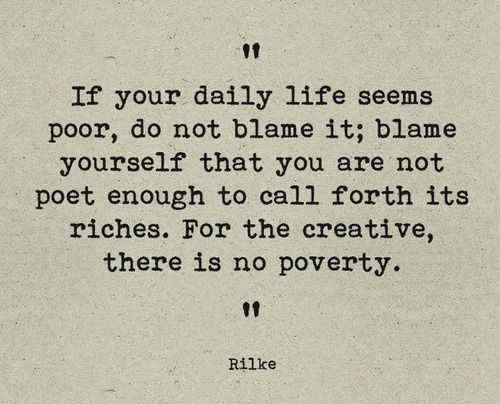 incredible quotes - no poverty for creative