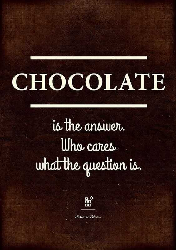 Hilarious Funny Food Quotes - Chocolate