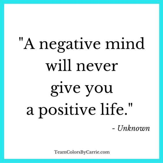 Inspirational words about life - negativity