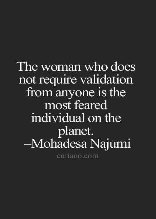 Inspirational Words for women - validation
