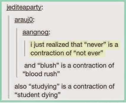 Hilarious Tumblr Posts 1 - student dying