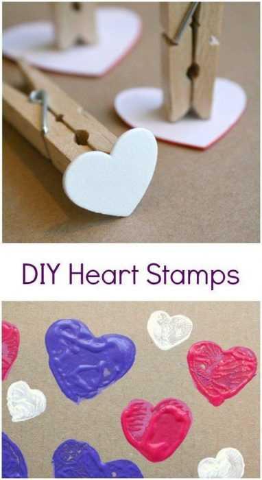 Valentine's Day Crafts - Stamp Art