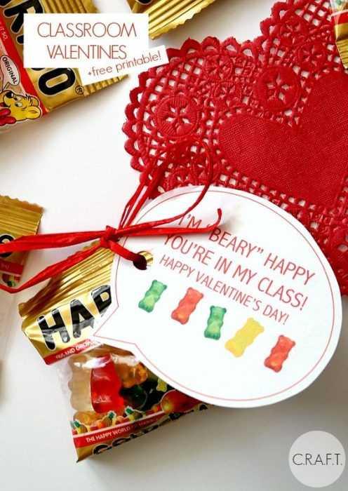 Valentine's Day Crafts - Gummy Bear Packs
