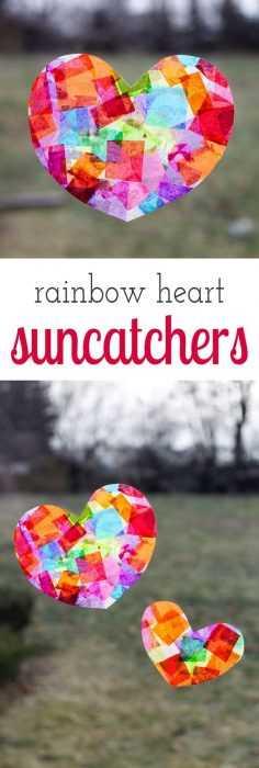 Valentine's Day Crafts - Suncatcher