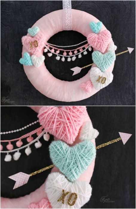 Valentine's Day Crafts - Wrapped Yarn