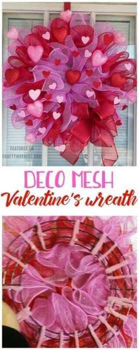 Valentine's Day Crafts - Heart Wreath