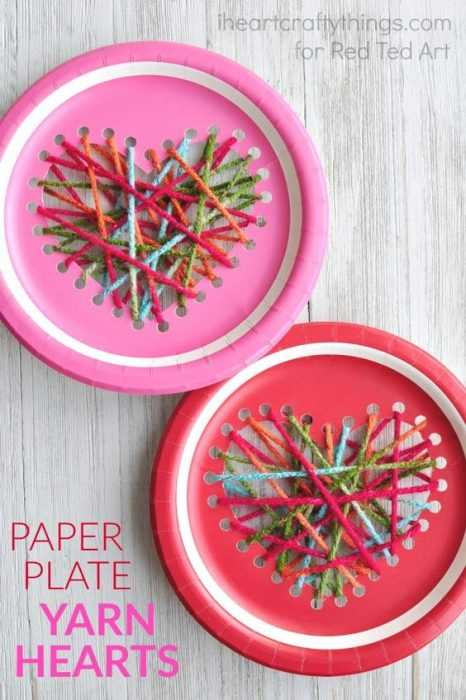 Valentine's Day Crafts - Paper Plate Hearts