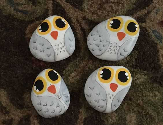 Painted Rock Idea Easy Hedwigs