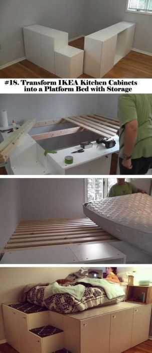 Ikea Hack - Platform Bed With Storage