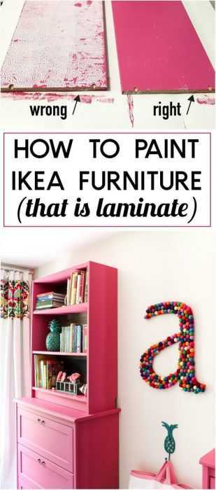 Ikea Hack - Paint Laminate Ikea Furniture