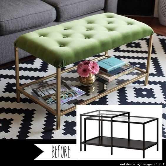 Ikea Hack - Victorian Style Coffee Table Ottoman
