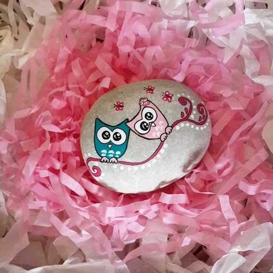 Painted Rock Idea Easy Owls