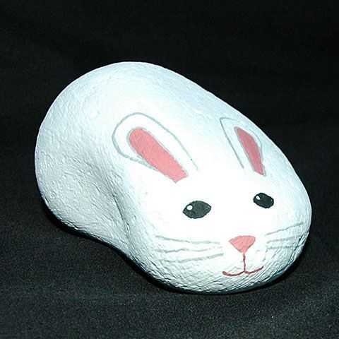 Painted Rock Ideas Easy - Easy Bunny
