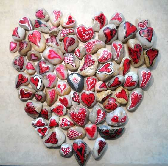 Painted Rock Idea Easy Valentines