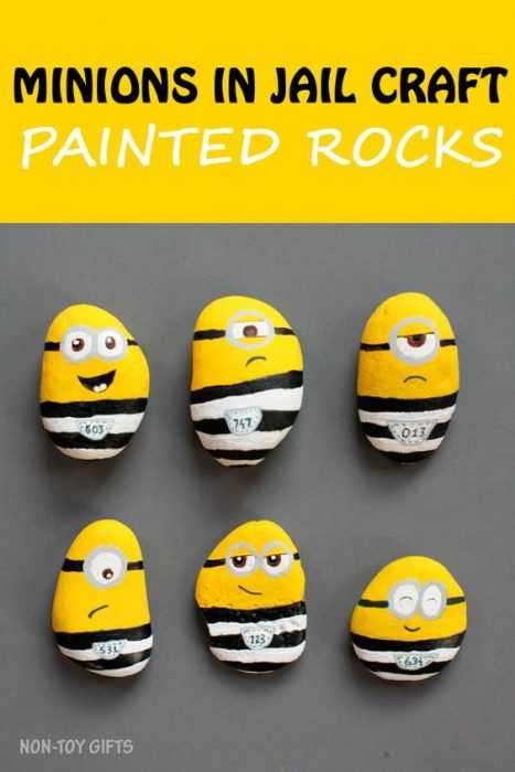 Painted Rock Idea Easy Minions