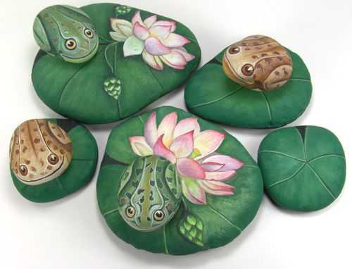 Painted Rock Ideas Easy - Pond Art