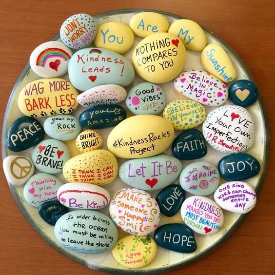 Painted Rock Idea Easy Positive Messages