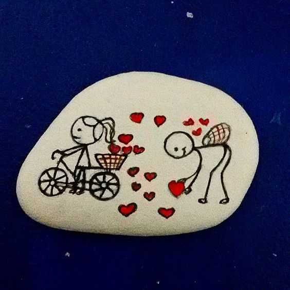 Painted Rock Ideas Easy - Hearts