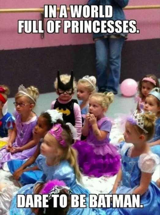 silly kid pics - batgirl