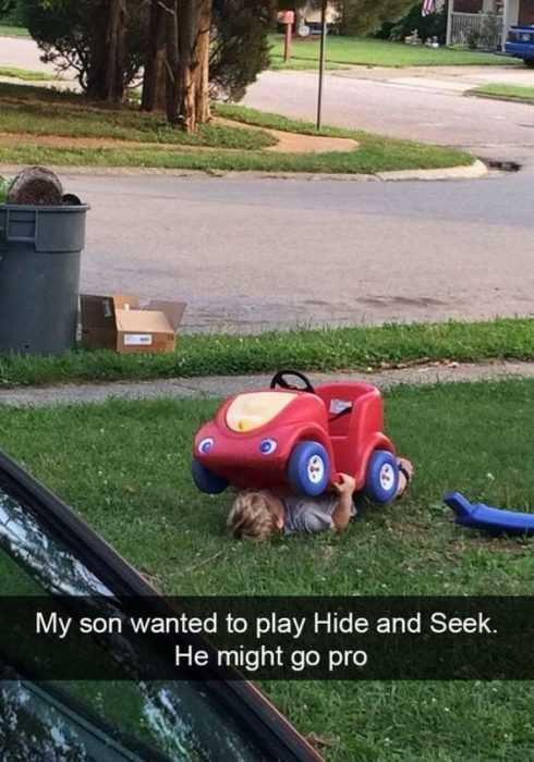 silly kid pics - hide and seek