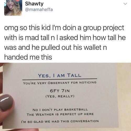 silly kid pictures - tall kid card